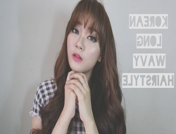 Korean Long Wavy Hair Style – Youtube | Korean Hairstyles For Long Intended For Korean Long Hairstyles (View 21 of 25)