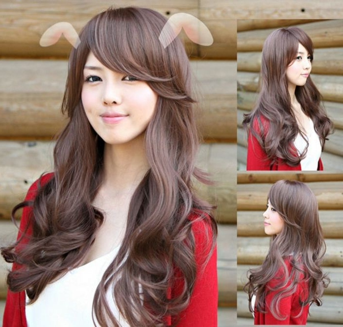 Korean Long Wavy Hairstyle | Hair Styles | Long Hair Styles, Curly Throughout Korean Long Hairstyles (View 7 of 25)
