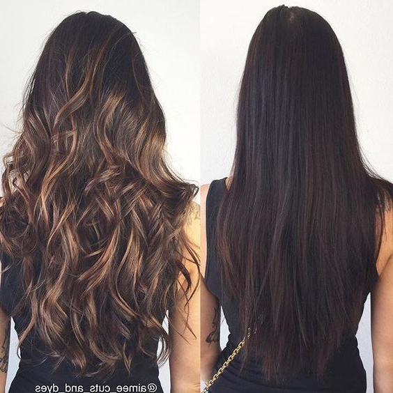 Layered, Curly Hairstyles With Long Hair – Ombre, Balayage Hair Regarding Balayage Hairstyles For Long Layers (View 11 of 25)
