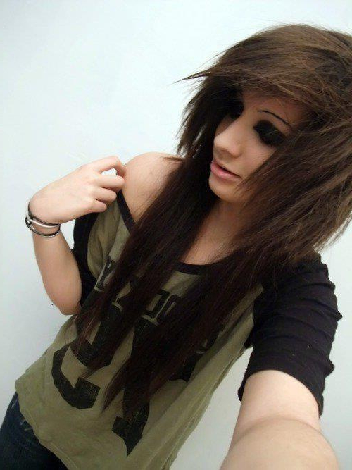 Layered Emo Hairstyle For Girls With Long Hair | Styles Weekly Throughout Emo Long Hairstyles (View 22 of 25)