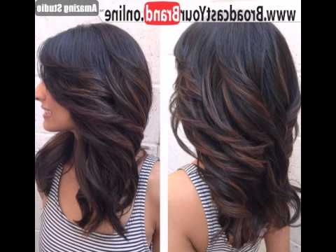 Layered Haircut For Long Hair With Side Swept Bangs – Youtube With Regard To Long Haircuts With Layers And Side Swept Bangs (View 24 of 25)
