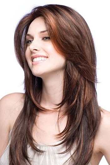 Layered Haircuts Brown Indian Human Hair Full Lace Wigs Regarding Long Haircuts Indian Hair (View 22 of 25)