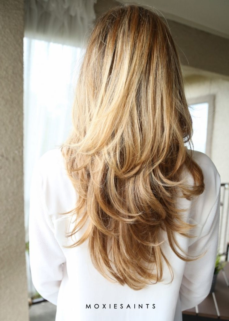 Layered Long Blonde Hair 1000 Ideas About Long Layered Haircuts On Throughout Edgy V Line Layers For Long Hairstyles (View 7 of 25)