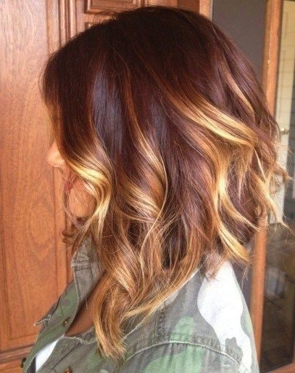 Layered Medium Ombre Hairstyle For Women – Popular Haircuts Within Layered Ombre For Long Hairstyles (View 15 of 25)