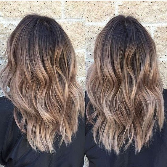 Layered Wavy Haircuts For Medium Thick Hair Ombre Hairstyles 2017 With Regard To Long Layered Ombre Hairstyles (View 14 of 25)