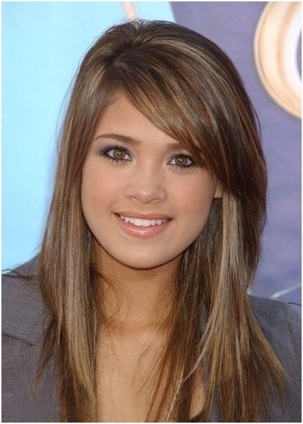 Light Brown Hair With Side Bangs: Long Hairstyles | Hair | Side With Regard To Long Hairstyles Side Fringe (View 9 of 25)