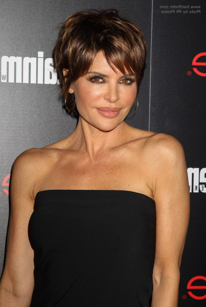 Lisa Rinna | Modern Pixie Haircut For A 50 Years Old Lady Throughout Long Hairstyles 50 Year Old Woman (View 5 of 25)