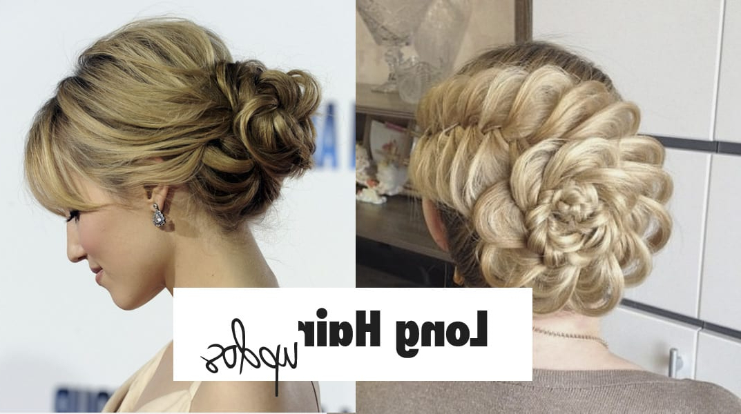 List Of 28 Easy Yet Stylish Updos For Long Hair + Images Regarding Long Hairstyles Updos (View 2 of 25)