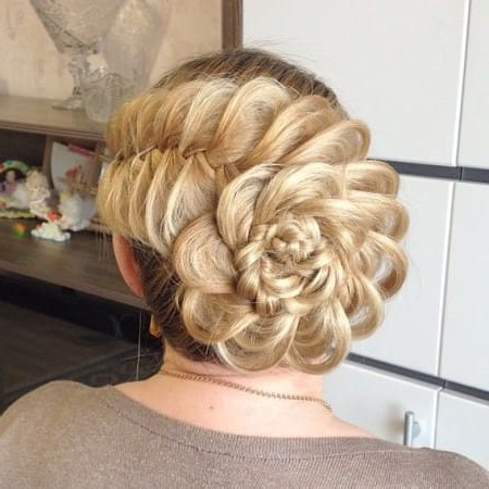 List Of 28 Easy Yet Stylish Updos For Long Hair + Images With Up Do Hair Styles For Long Hair (View 21 of 25)