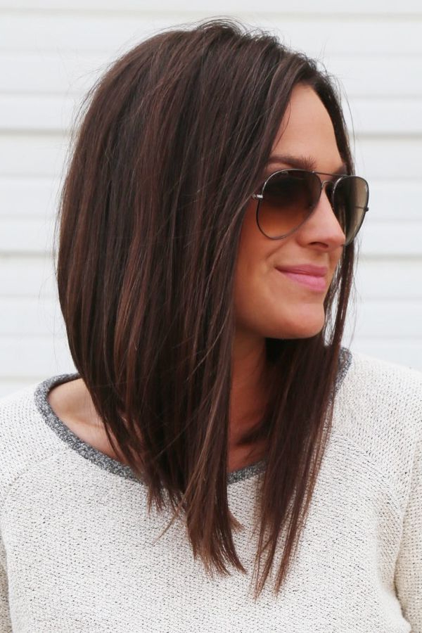Long Angled Bob #longbob …   Hairstyles To Try   Hair … Pertaining To Angled Long Haircuts (View 6 of 25)