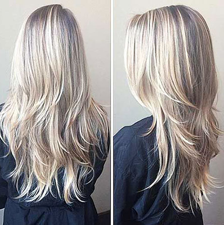 Long Blonde Layered Hairstyles – Blonde Hairstyles 2017 Inside Long Hairstyles Blonde (View 21 of 25)