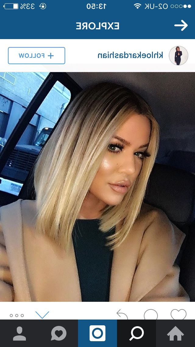 Long Bob, Blonde, Dark Roots, | Natural Hair | Hair Styles, Ombre Within Long Dark Hairstyles With Blonde Contour Balayage (View 12 of 25)