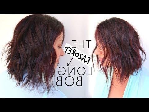 Long Bob Hair Cut Tutorial Using A Razor – Youtube Throughout Long Razor Haircuts (View 11 of 25)