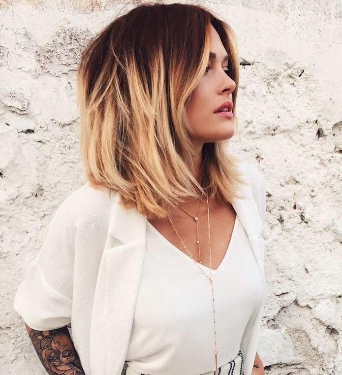 Long Choppy Brown Bob With Highlights – Hair World Magazine With Regard To Long Blonde Choppy Hairstyles (View 20 of 25)