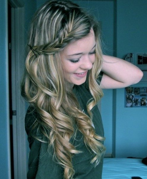 Long Curly Hairstyles With Braids – Popular Haircuts Throughout Curled Long Hairstyles (View 14 of 25)