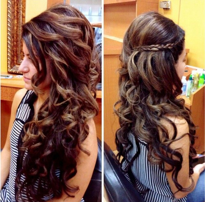 Long Curly Wedding Hair ~ Picture Found On Instagram | Wedding Hair Pertaining To Long Curly Hairstyles For Wedding (View 21 of 25)