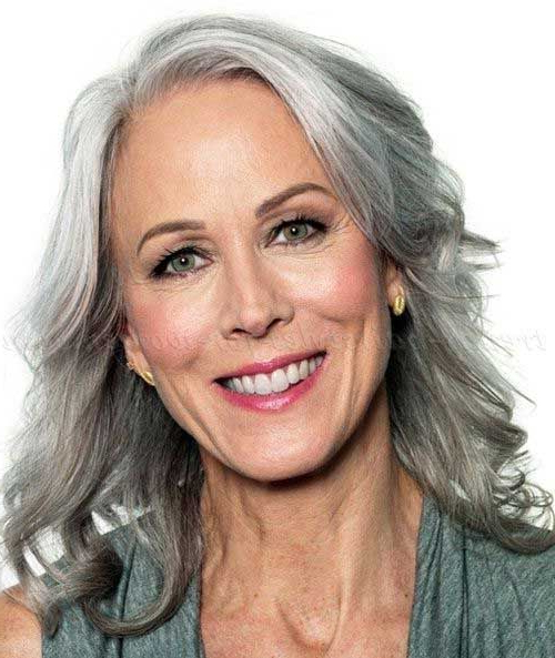 Long Gray Hairstyles 25 Long Hairstyles For Women Over 50 Intended For Long Hairstyles At (View 23 of 25)