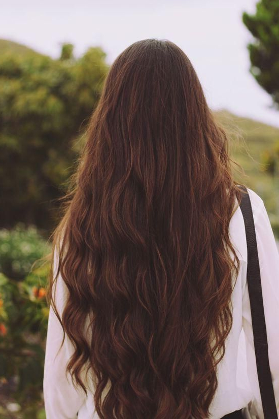 Long Hair #long #brunette #wavy #hair | {Hair} With Long Hairstyles From Behind (View 24 of 25)