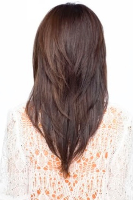 Long Hair With A V Shape Cut At The Back – Women Hairstyles Throughout V Cut Layers Hairstyles For Straight Thick Hair (View 19 of 25)