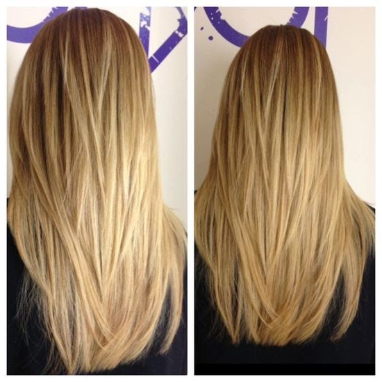 Long Hair With A V Shape Cut At The Back – Women Hairstyles With Long Hairstyles V In Back (View 4 of 25)