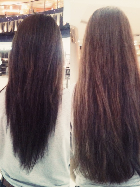 Long Hair With A V Shape Cut At The Back – Women Hairstyles With Regard To V Cut Layers Hairstyles For Straight Thick Hair (View 12 of 25)