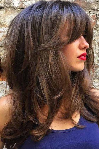 Long Hair With Bangs Styling Ideas | My Style | Hair Cuts, Hair Pertaining To Side Swept Curls And Draped Bangs Hairstyles (View 10 of 25)