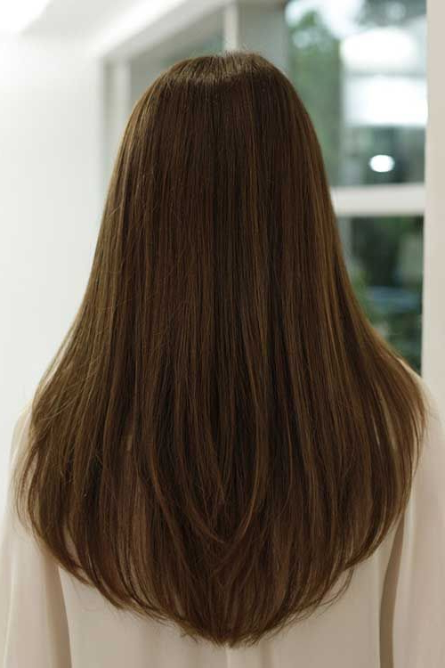 Long Haircuts For Women Back View – Google Search | Hair Cut | Hair Intended For Long Hairstyles V In Back (View 3 of 25)