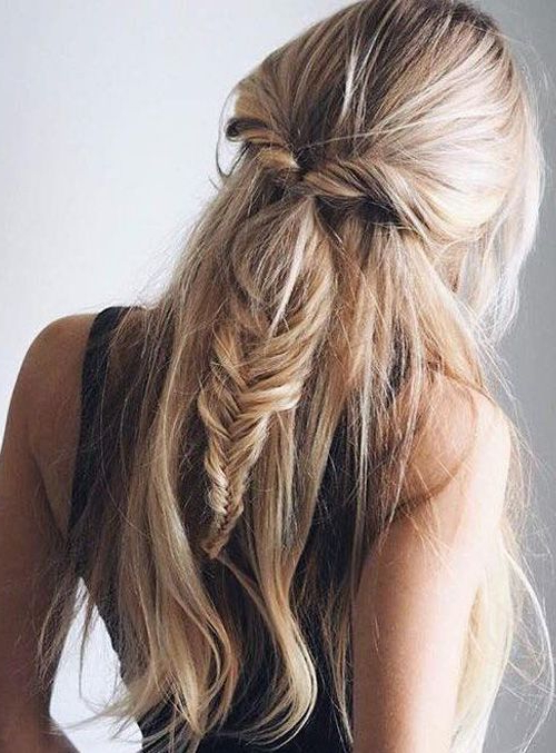 Long Hairstyles For 2019 – All The Long Hair Inspiration You Need Pertaining To Half Up Long Hairstyles (View 8 of 25)