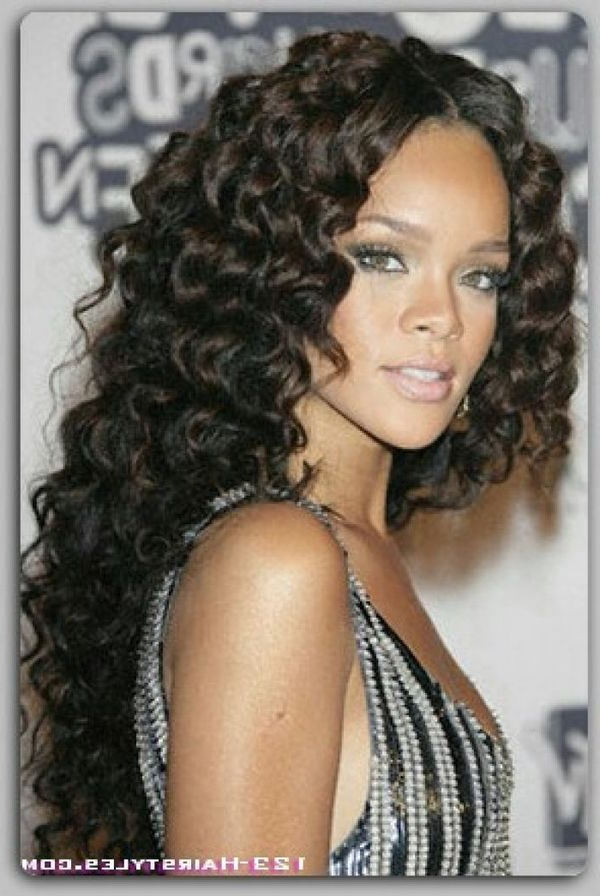 Long Hairstyles For Black Women, Best African American Long Hair For Her Inside Cute Long Hairstyles For Black Women (View 6 of 25)