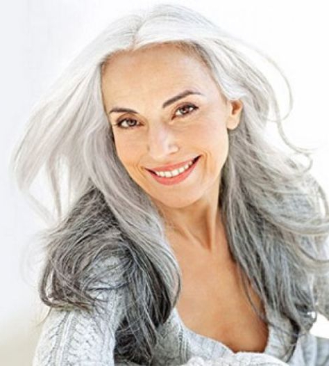 Long Hairstyles For Women Over 50 | Hair | Hair, Long Gray Hair Within Long Hairstyles 50 Year Old Woman (View 12 of 25)