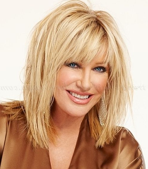 Long Hairstyles Over 50 – Suzanne Somers Layered Haircut For Long Hairstyles Over (View 8 of 25)