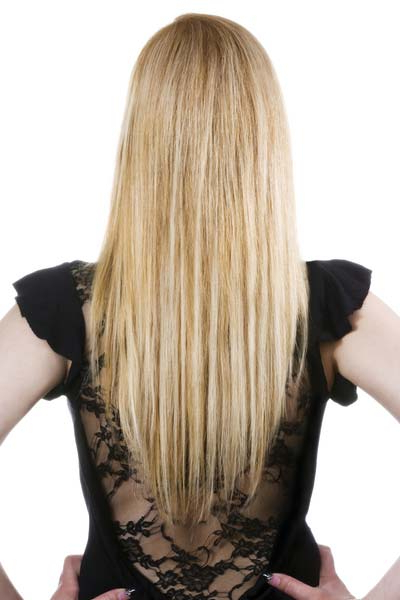 Long Hairstyles: U Shaped, V Shaped Or Straight Across Back? In Long Hairstyles From Behind (View 8 of 25)