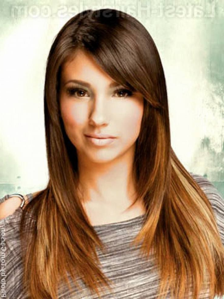 Long Hairstyles With Layers And Side Bangs For Women With Oval Face Pertaining To Long Haircuts With Bangs For Oval Faces (View 21 of 25)