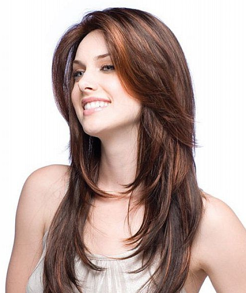 Long Hairstyles With Side Fringe A Nd Layers For Long Hair Regarding Long Hairstyles With Side Fringe (View 8 of 25)