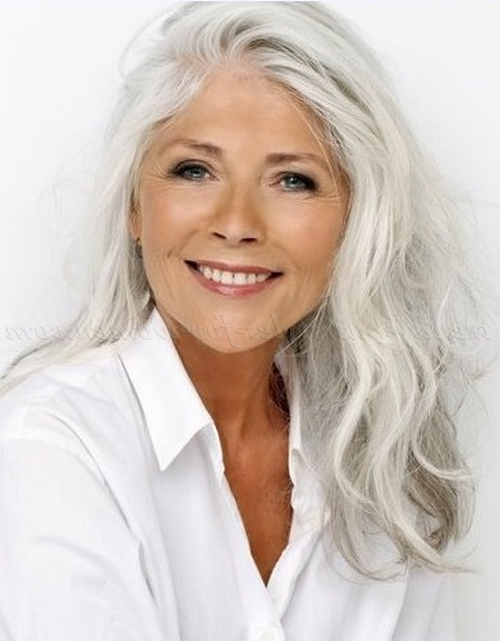 Long Hairstyles Women 50 | Page 2 Of 32 | Trendy Hairstyles For Women Within Long Hairstyles For Grey Hair (View 17 of 25)