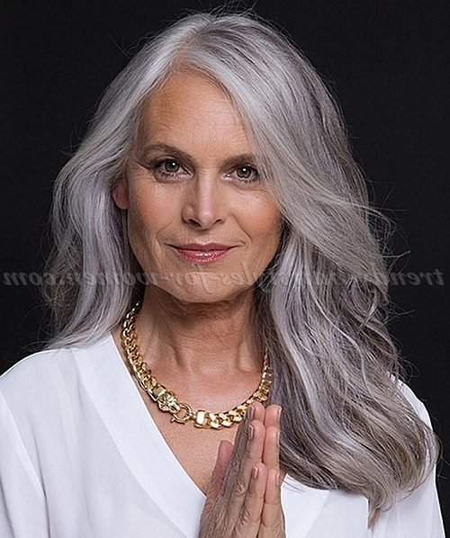Long Hairstyles Women 50 | Page 24 Of 32 | Trendy Hairstyles For Women Inside Long Hairstyles Grey Hair (View 23 of 25)