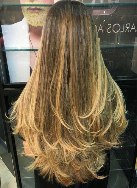 Long Layered Hair With Blonde Balayage 2019 | Ideas For Fashion Pertaining To Balayage Hairstyles For Long Layers (View 22 of 25)