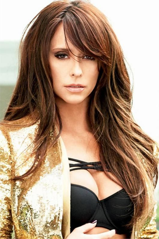 Featured Photo of Long Hairstyles With Side Bangs And Layers