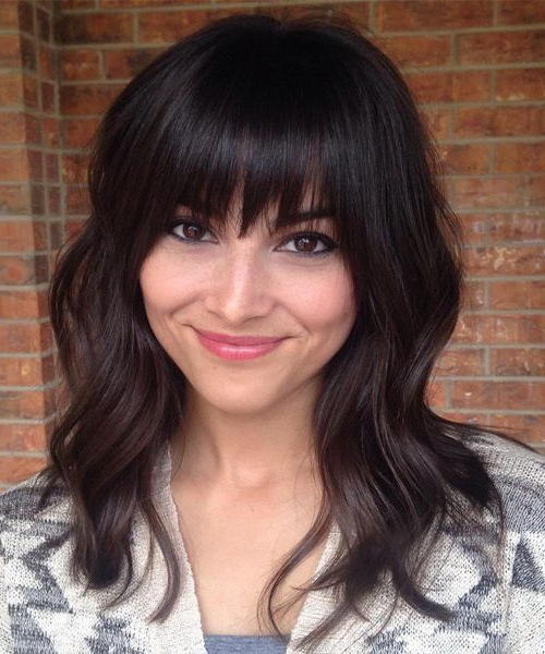 Featured Photo of Long Layered Waves And Cute Bangs Hairstyles