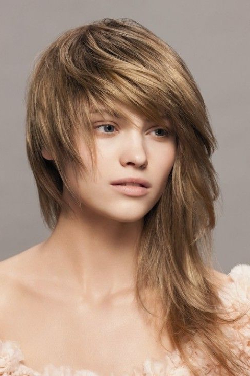 Long Messy Hairstyle | ~ Hairdos ~ | Haircuts For Long Hair, Hair With Half Short Half Long Hairstyles (View 2 of 25)