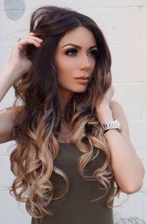 Long Ombre Dark Hairstyles | Makeup | Balayage Hair, Ombre Hair Intended For Long Hairstyles Dark Brown (View 5 of 25)