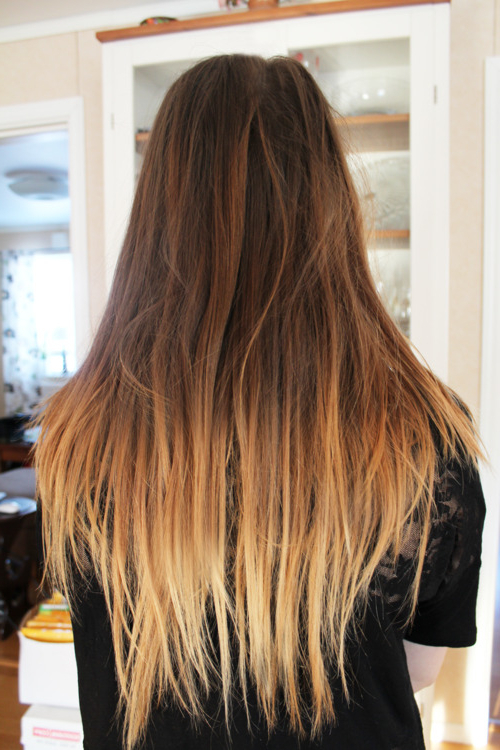 Long Ombre Hair 2014: Straight, Choppy & Dip Dyed Long Style Intended For Long Hairstyles Dyed (View 8 of 25)