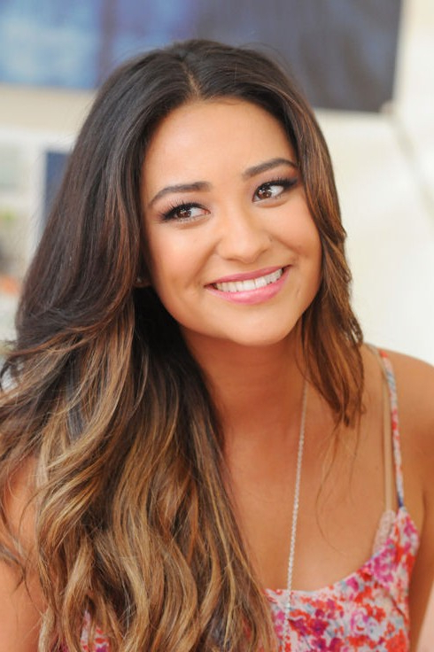 Long Ombre Hair Style Without Bangs – Shay Mitchell Hairstyles Intended For Long Hairstyles Without Bangs (View 21 of 25)