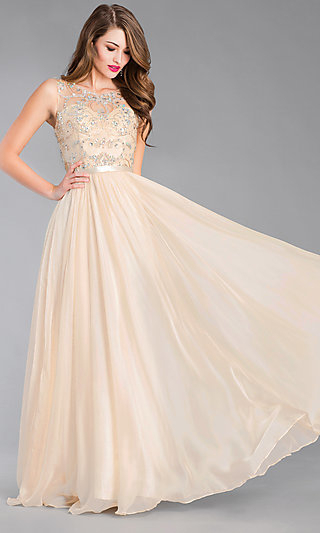 Long Prom Dresses And Formal Prom Gowns – Promgirl In Princess Like Side Prom Downdos (View 4 of 25)