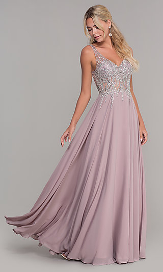 Long Prom Dresses And Formal Prom Gowns – Promgirl Regarding Princess Like Side Prom Downdos (View 5 of 25)