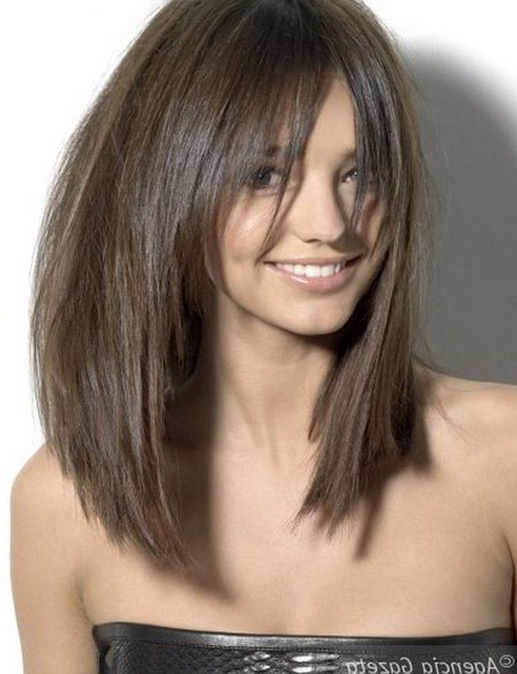 Long Razor Cut Brunette Bob With Bangs | Hair | Hair Lengths, Hair With Long Hairstyles Razor Cut (View 3 of 25)
