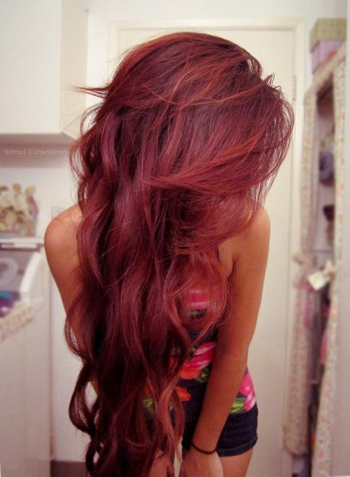 Long Red Wavy Hairstyle – Long Hairstyles How To For Red Long Hairstyles (View 15 of 25)