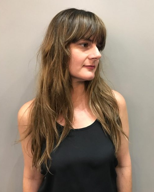 Long Shag Haircuts: 36 Examples For 2019 With Long Layered Shaggy Hairstyles (View 9 of 25)
