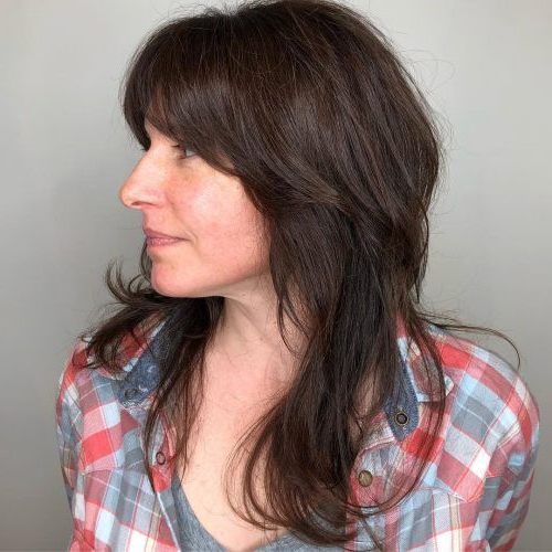 Long Shag Haircuts: 36 Examples For 2019 With Long Shaggy Hairstyles For Fine Hair (View 18 of 25)