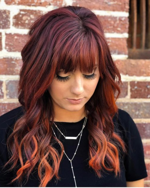 Long Shag Haircuts: 36 Examples For 2019 Within Messy Loose Curls Long Hairstyles With Voluminous Bangs (View 23 of 25)